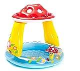 Babypool mit Sonnenschutz Planschbecken mit Sonnenschutz Badespaß für Babys Schwimmbad für Kleinkinder Pool mit Sonnenschutz Planschbecken mit Sonnenschutz Kinderpool Babypool zum spielen Baby Pool Schwimmingpool Kinderplanschbecken Kinderspielpool Babypool als Pilz mit Sonnenschutz Maße: ca. 102 x 89 cm (ØxH) - integr. Sonnendach bietet teilweisen Schutz vor grellem Sonnenlicht - lufblasbarer Boden - M - Altersempfehlung: 1-3 Jahre