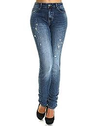 Damen Übergrößen Jeans Hose High Waist 21466