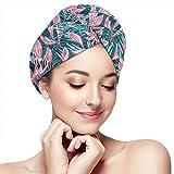Asciugamano per capelli Asciugamani giungla tropicale Avvolgimenti su piccola scala per donne Doccia Turbante Microfibra Asciugamano da bagno avvolgente ad asciugatura rapida