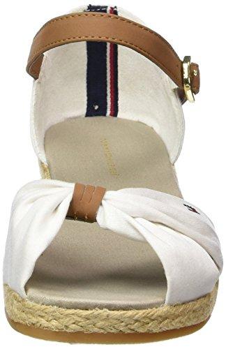 Tommy Hilfiger K3285RISTIN 1C, Mädchen Knöchelriemchen Sandalen, Weiß (WHITE 100), 31 EU -