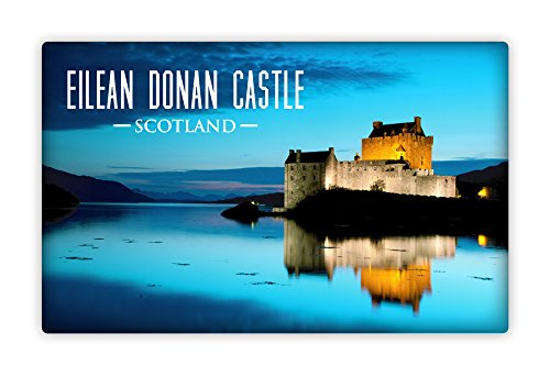 Eilean Donan Castle (Scottish Eilean Donan Scotland Castle Scene Tin Fridge Magnet)