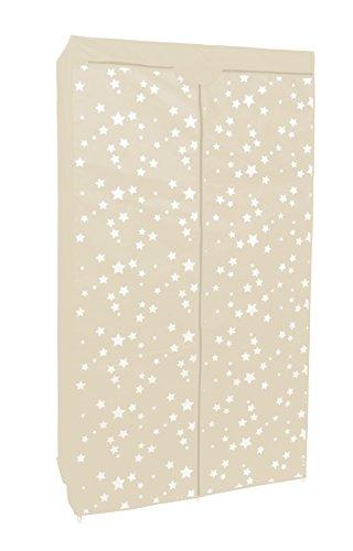 Kleiderschrank PRO ART 4020 Creme Farben mit Sternen 160 x 88 x 45 cm Regalsystem Stoffschrank...