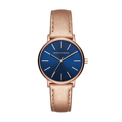 Armani Exchange Reloj Analogico para Mujer de Cuarzo con Correa en Cuero AX5547