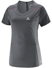 SALOMON - T-Shirt Femme - AGILE SS TEE W Gris