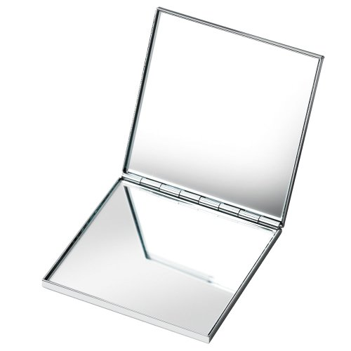 Miroir carré double en chrome