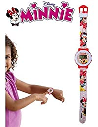 Reloj pulsera digital correa de goma infantil motivo MINNIE MOUSE - WD10561