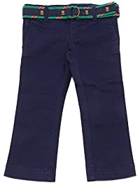 9714U pantalone bimba RALPH LAUREN blu cotone trouser pant kid