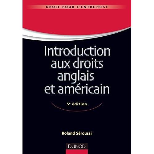 Introduction aux droits anglais et américain - 5e édition