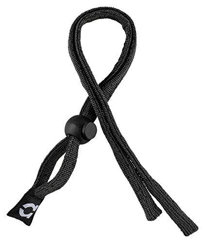 Haftpunkt Brillenband für Sport - Elastisch, Größenverstellbar - Unisex Brillenschnur für Kinder, Männer, Damen - Eye Wear Strap für Sonnenbrille, Lesebrillen, Sportbrillen (schwarz)