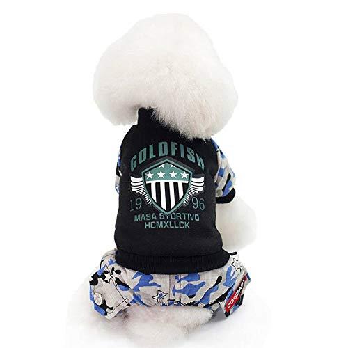 xiaohan Herbst und Winter Haustier Kleidung Sport Vierbeiner Warm Baumwolle Mantel Hund Kleidung (Wonder Pets Kleidung)