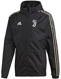 adidas Juve Rain Jkt, Chaqueta Deportiva para Hombre, Hombre, CW8726, Nero/Clay, Small