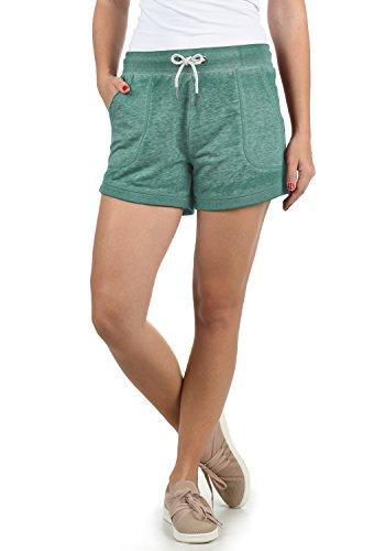 DESIRES Bente Damen Sweatshorts Bermuda Shorts Kurze Hose Mit Melierung Und Kordel Regular Fit, Größe:L, Farbe:North Atl. (3324M)