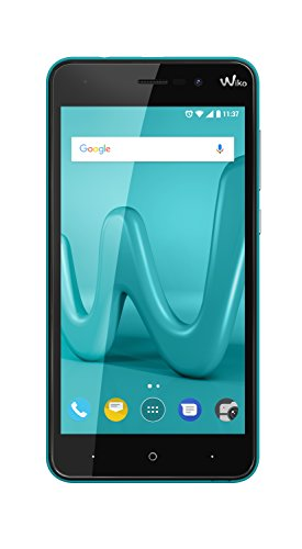 Wiko Lenny 4 12,7 cm (5 Zoll) Smartphone (8MP Kamera, 16 GB internen Speicher, 1GB RAM, Dual-SIM, Android Nougat) türkis