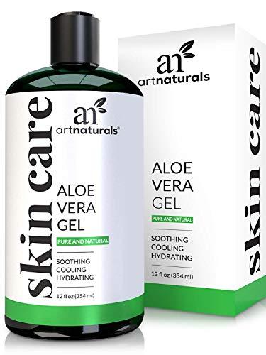 ArtNaturals Aloe Vera Gel Kaltgepresst - (12 Fl Oz/354ml) - 100{b55ba0fbcb0ce36ba46a260c22cae9e894f4a78ea9af260eb4be770299a6a06f} Naturrein Bio - Feuchtigkeitspflege für Haut und Haar - Für Sonnenbrand, Hautreizungen, Insektenstiche - After Sun