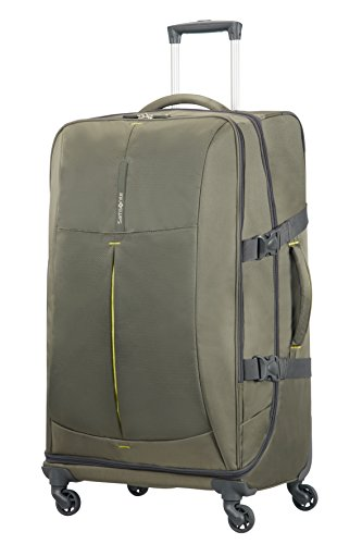 Samsonite 4mation Spinner Duffle Maleta, 77 cm, 99 Litros, Color Oliva/Amarillo