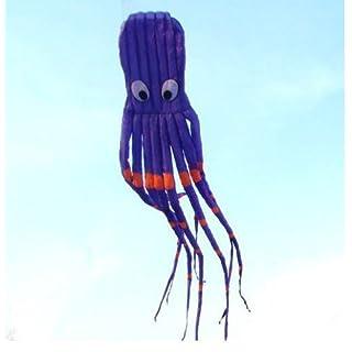 Amazona's presentz 8M 3D Riesen Oktopus Drachen in Lila - inkl. Drachenschnur, ohne Zusammenbau mit Einem Langen Tail Geschenkidee, Spielzeug für draußen