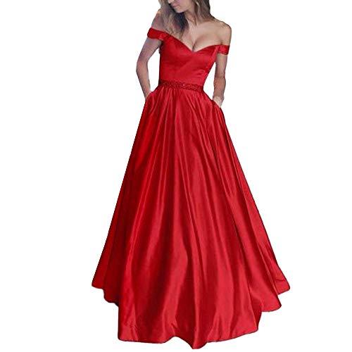 Bazhahei donna vestiti,abito donna elegante casual senza maniche sexy mini lungo vestiti abiti da sera cocktail cerimonia festa danza matrimonio gonna