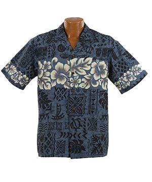 Hibiscus-aloha-shirt Herren (Made in Hawaii Original Hawaiihemd Aloha Shirt Herren Alle Grössen M-7XL Moderne Designs Fronttasche Matching Pocket Hohe Qualität 100% Baumwolle (Hibiscus Band, L))