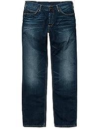 CARHARTT WIP - Jean - Homme - Jeans Straight Fit Marlow Otero Bleu Foncé Délavé pour homme