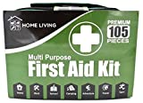 105 Piece First Aid Kit Medical Emergency Bag Pouch - Plasters Bandages 2