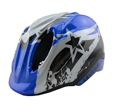KED Fahrradhelm Primo Blue Stars in der Größe S (Kopfumfang 46-51cm) - Allroundhelm in Robuster maxSHELL- Technologie und Quicksafe-System