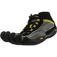 Vibram Men's Five Fingers V Trek Trail Hiking Shoe 8.5-9 Balck/Grey/Citronelle