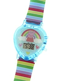 Peppa Pig Little Kid 's Rainbow reloj digital con luz Up función
