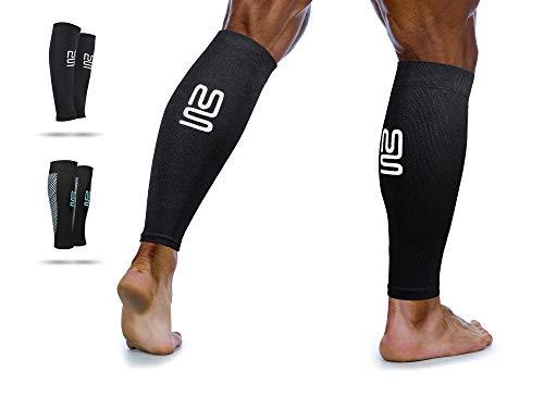 Kompression Bein (Wadenbandage | Waden Kompressionsstrümpfe zur Leistungssteigerung und Abhilfe bei Schienbeinkantensyndrom, Durchblutungsstörungen und Krämpfen)