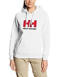 Helly Hansen W Hh Logo Summer - Sudadera con capucha para mujer, color blanco, talla M