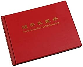 Comeonbaby Penny Money Pocket Storage Coin Album Book 240 Holders Collection (Red)