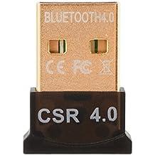 Bluetooth 4.0 USB Dongle Adaptador CSR 4.0 Receptor inalámbrico Bluetooth para PC Windows 10/8/7 / XP / Vista AC827