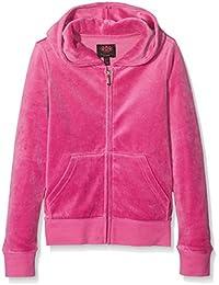 Juicy Couture Trk Scottie Crystals Rb Jkt, Sweat-Shirt à Capuche Fille