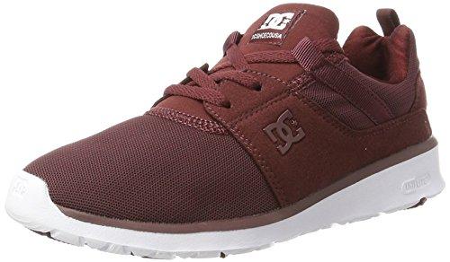 DC Shoes Heathrow, Scarpe da Ginnastica Basse Donna, Rosso (Burgundy), 36 EU
