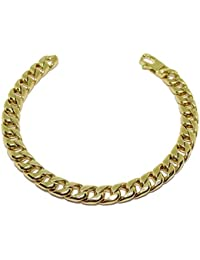 Never Say Never Men's Bracelet 18 K Yellow Gold 8 mm Wide 21.00 cm Long Lobster Claw Clasp