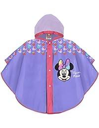 PERLETTI Poncho Impermeable Niña Disney Minnie Mouse - Chubasquero de Lluvia Rosa/Morado con Capucha y Botones - Estampado Official Minni Mouse - Material EVA