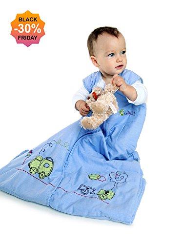Slumbersac - Sacco nanna per bambini Train, 1 Tog, 3-6 anni
