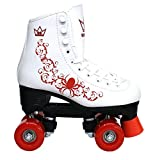 Kingdom GB Patins à roulettes Quad Vector Rouge Enfant Taille 33