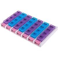 non-brand MagiDeal Wöchentliche Tablettendose Pillenbox Pillendose Halter mit 28 separate Fächer (Morgen + Mittag... preisvergleich bei billige-tabletten.eu