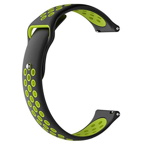 Altsommer 22mm für Samsung Gear S3 Frontier intelligentes Armband mit Vielen Luftlöchern Silikon Atmungsaktiv Sport Band mit Edelstahl Schnalle Bracelet Armband für Damen Herren (H)