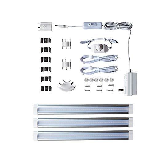 Moderne Unter Kabinett-beleuchtung (LAMPAOUS Led Kabinett Lampen kaltweiss Dimmbare Unterbauleuchten Schrankbeleuchtung Vitrineleuchten Küchenlampen 42 SMD 3er Pack 12 Watt 12V DC)