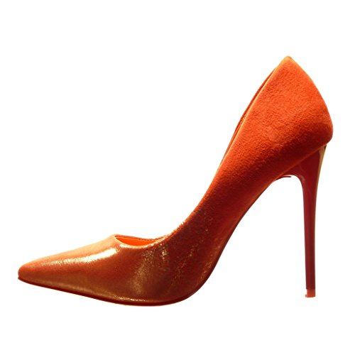 Angkorly Damen Schuhe Pumpe - Stiletto - Sexy - Glänzende Stiletto High Heel 11 cm Rot