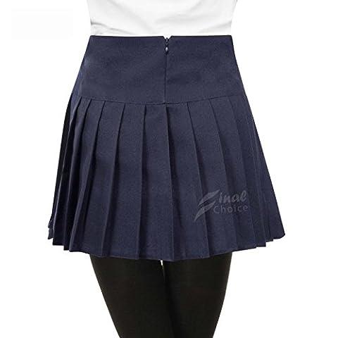 Think-louder New Britney Spears Kids Children Pleated School Skirts Uniform Skirt - Navy Blue UK 11-10