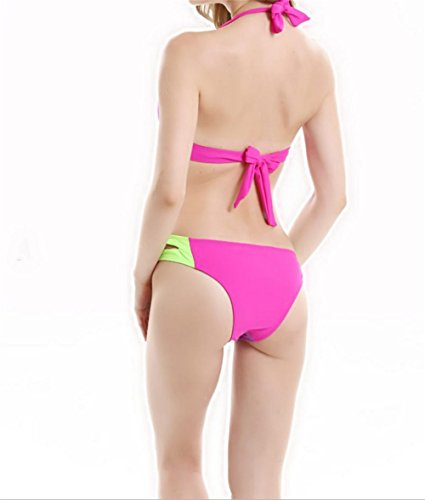 pengweiFrau Bikini Badeanzug Split heißen Frühling Schlagfarbe Badeanzug s