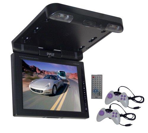"""Pyle PLRD103IF Ecran plafonnier TFT LCD 10,4"""" (26,4 cm) avec Manette de jeu/Lecteur DVD/VCD/CD + Télécommande Noir"""