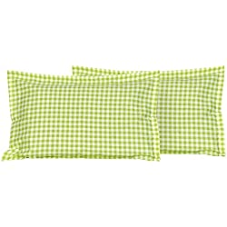 "Vintana Cotton 2 Piece Pillow Covers - 27"" x 18"", Green"
