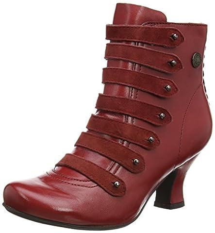 Hush Puppies Tiffin Verona, Damen Kurzschaft Stiefel, Red (Red Leather),