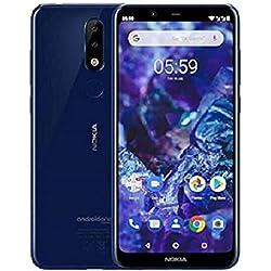 Nokia 5.1 Plus - Smartphone débloqué 4G (5,8 Pouces, 32 Go, Double Nano SIM, Android One Oreo) Bleu
