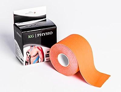 Kinesiologie-Tape, 5cm x 5m–bei Sport-Verletzungen, Physio-Tape, wasserabweisend, hält auch bei starker Bewegung - kann verwendet für eine Vielzahl von Sport- und physiotherapeutischen Anwendungen–Bedienungsanleitung mit Bildern im Liefe