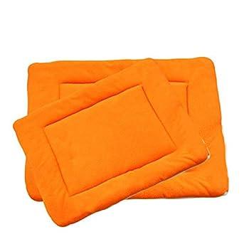 Maison BOBO Coussin pour Chien Epais Lit de Chien Lavable Matelas Chien Grande Taille Tapis de Chien Chat Confortable pour Niche Voiture(Orange,L)