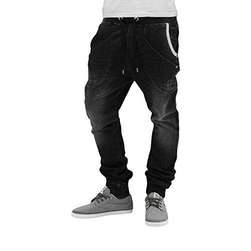 e908d9c32142d9 Redbridge Herren Jeanshose Black Denim Uesd Look Jogger Gummizug Baumwolle  Hose (Schwarz